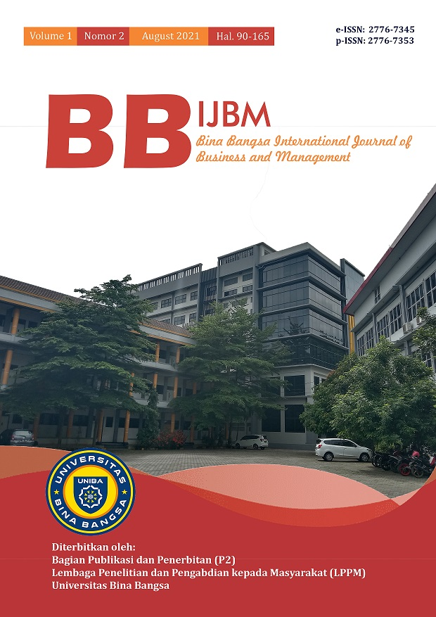 View Vol. 1 No. 2 (2021): BBIJBM MAY-AUG